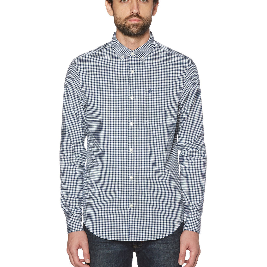 Original Penguin Men's Stretch Gingham Button Down Shirt