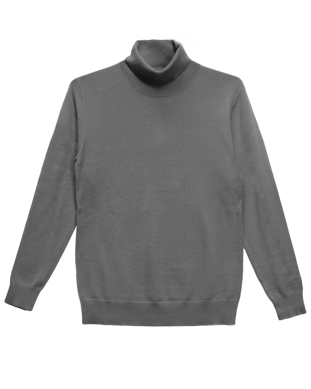 Trinity Kays Kulture Logo Turtleneck Sweater - Charcoal