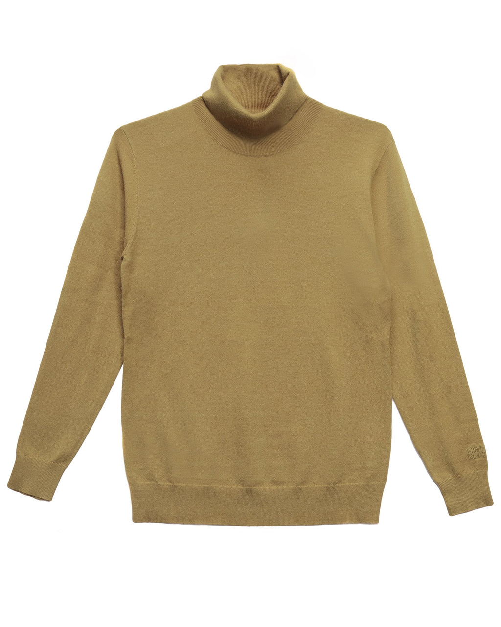 Trinity Kays Kulture Logo Turtleneck Sweater - Tan