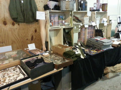 Fort Indiantown Gap WWII Reenactment - War's End Shop Vendor Setup