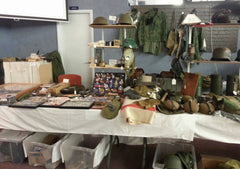 Akron Militaria Show - War's End Shop Setup