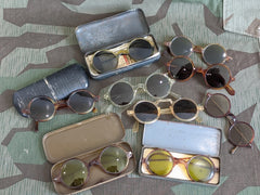 Comparison Photo: Original and Reproduction WWII German Sunglasses