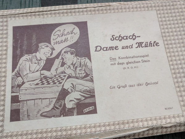 Soldiers Chess Game Set Schach Mühle Dame Complete
