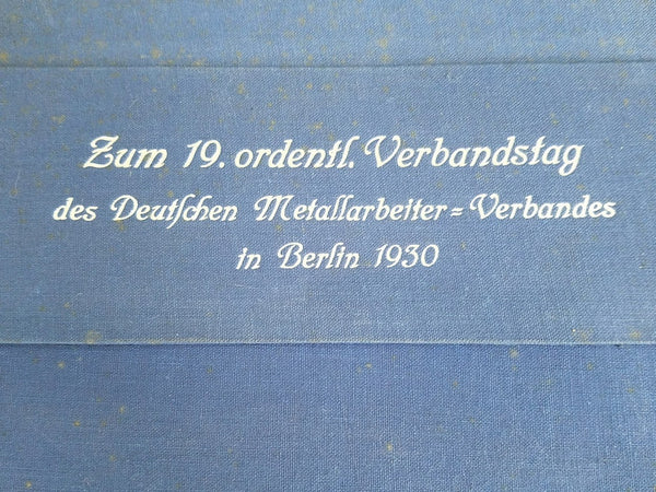 1930 Berlin Blue Desk Blotter Folder Deutschen Metallarbeiter Verband