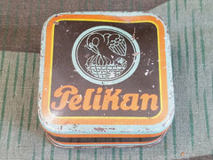 1920s 1930s Pre-WWII German Pelikan Typewriter Ribbon Tin