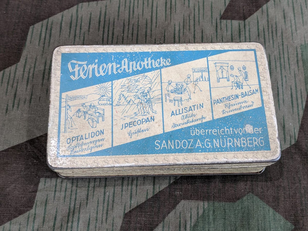 Vintage 1930's Pre-WWII German Vacation Apothecary Tin