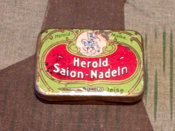 1930s German Herold Salon Gramophone Needle Tin