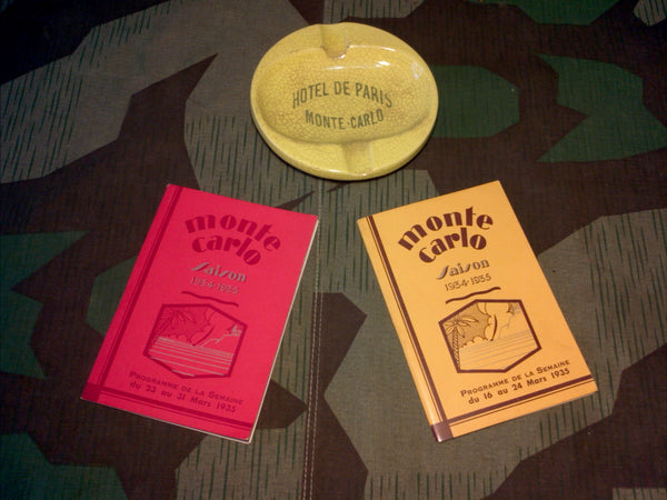 1930s Hotel De Paris Monte Carlo Ashtray & Guide Books