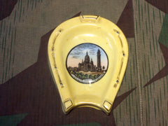 1930s Lucky Horse Shoe French Paris Souvenir Ashtray