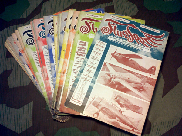 1938 German Flugsport Magazines Pre-WWII Aviation