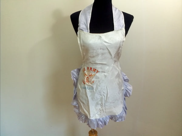 Vintage 1940s WWII US Army Sweetheart Apron