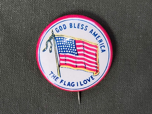 God Bless America The Flag I Love Pin