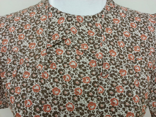 "German Orange/Brown Dress - Buttons in the Back <br> (B-38"" W-32"" H-39"")"