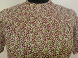 "German Green/Brown Dress - Buttons in the Back <br> (B-39"" W-32"" H-38"")"
