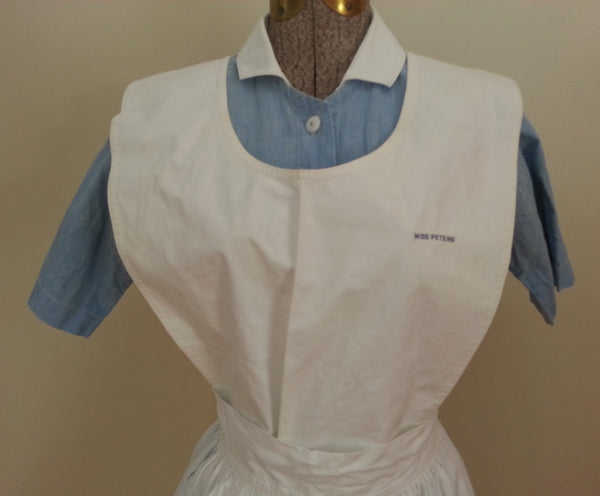 "Blue Nurse Dress & Apron (Named) <br> (36""-27""-34"")"