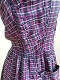 "German Plaid Dress <br> (B-36"" W-27"" H-40 1/2"")"