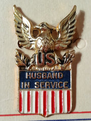 WWII Husband in Service Sterling Pin Made by Coro - New Old Stock - Sweetheart Brooch
