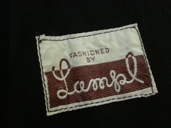 Vintage Fashioned by Lampl label on 1940s / 1950s jacket