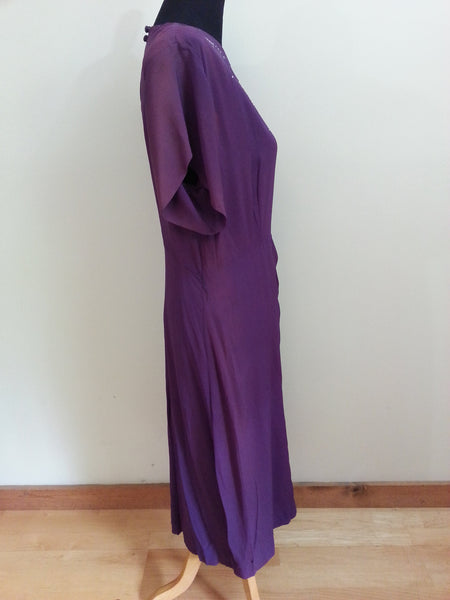 "Purple Dress with Rhinestone Accents (as-is) <br> (B-44"" W-33"" H-40"")"