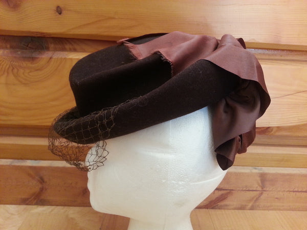 Brown Tilt Hat