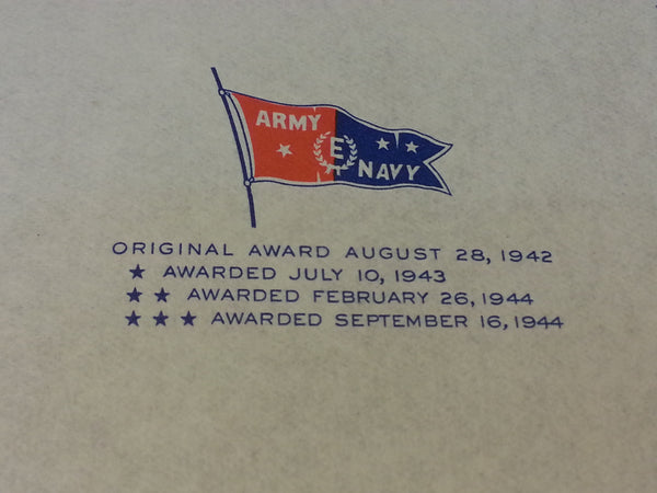 WWII US Army Navy Excellence Award