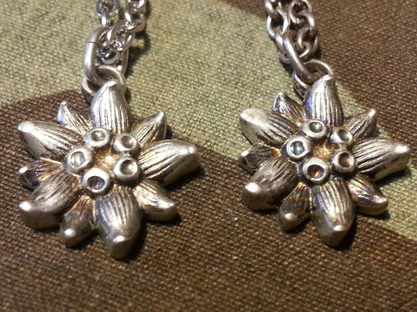 Silver Edelweiss Necklace and Bracelet Set