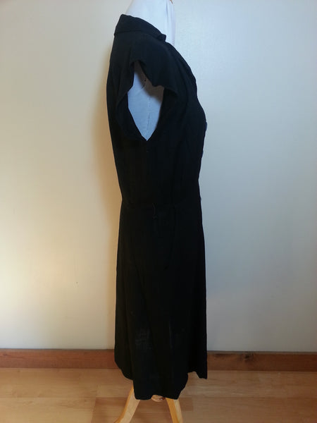 "Black Dress with Gray Buttons <br> (B-42"" W-31"" H-40"")"