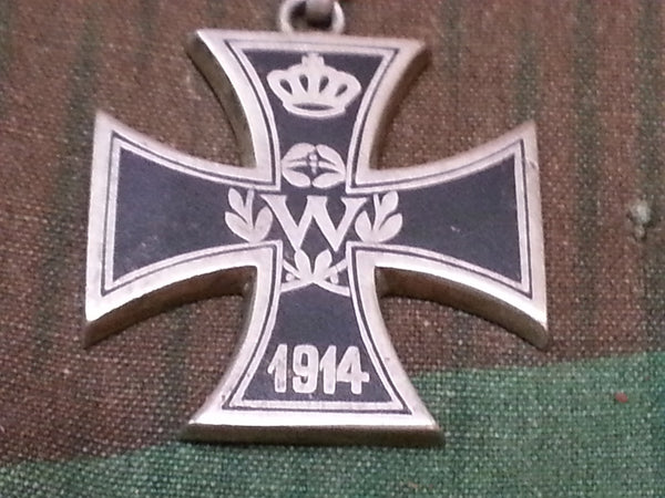 Engraved Iron Cross Necklace