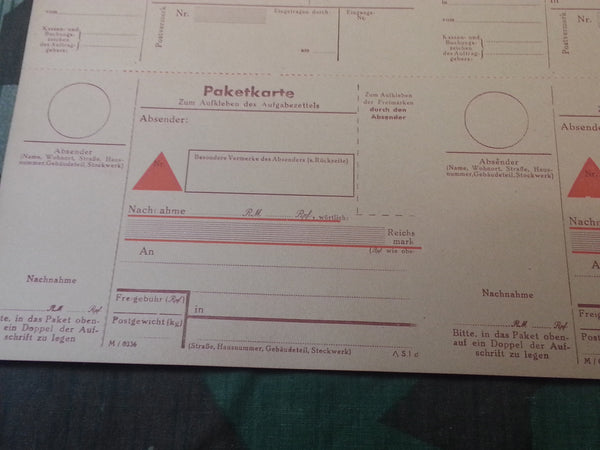 Original Shipping Labels & Money Orders Zahlkarte Paketkarte