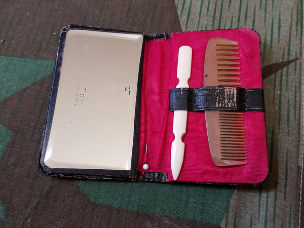 Gebrüder Rauh Advertising Travel Mirror and Comb