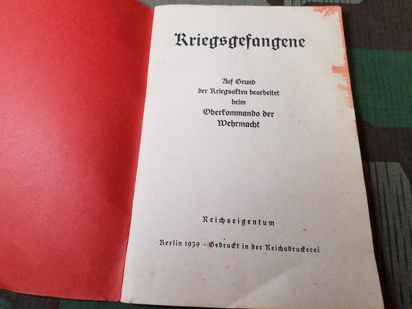Kriegsgefangene Official Book on Prisoners