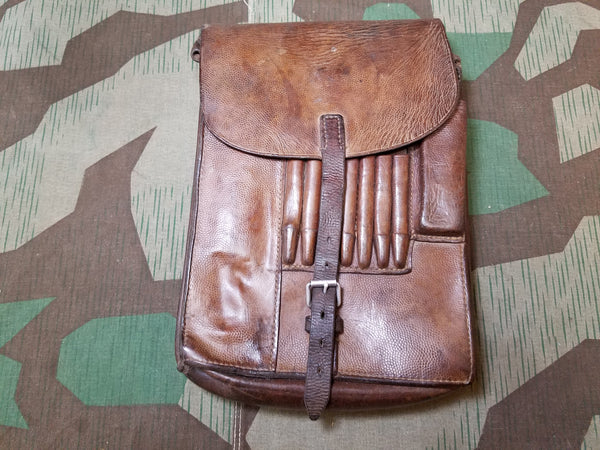 Original WWII German Leather M35 Map Case