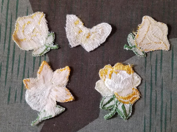 German Embroidered Flowers (Set of 10)