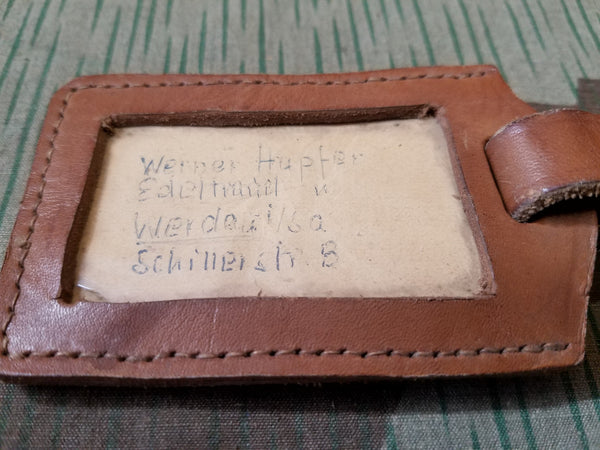 German Brown Luggage Tag