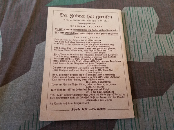 Original Soldiers Song Book Text Only for Harmonica
