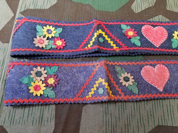 Trachten German Traditional Felt Belt