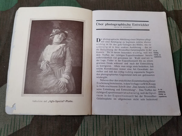 WWI Agfa Photography Book