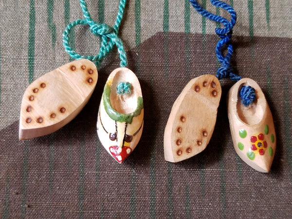 Hamburg Souvenir Wooden Shoe Necklace