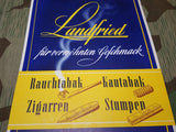 Landfried Tobacco Advertisement Sign