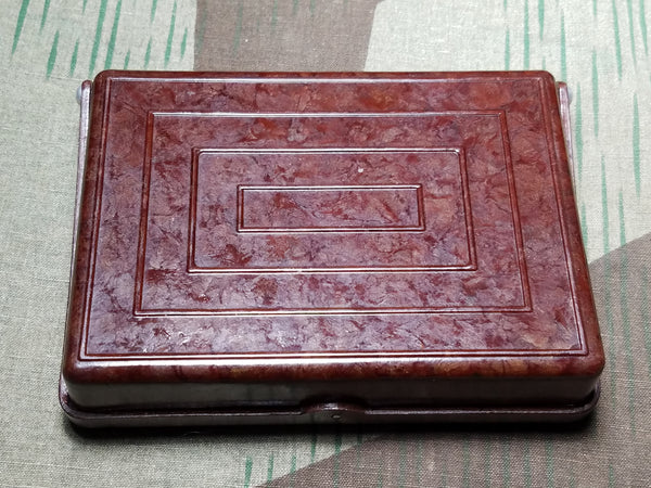 Bakelite Checkered Lid Cigarette Case Berlin