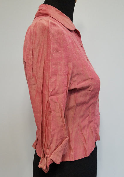"Button Down Pink Blouse <br> (B-36"" W-28"")"