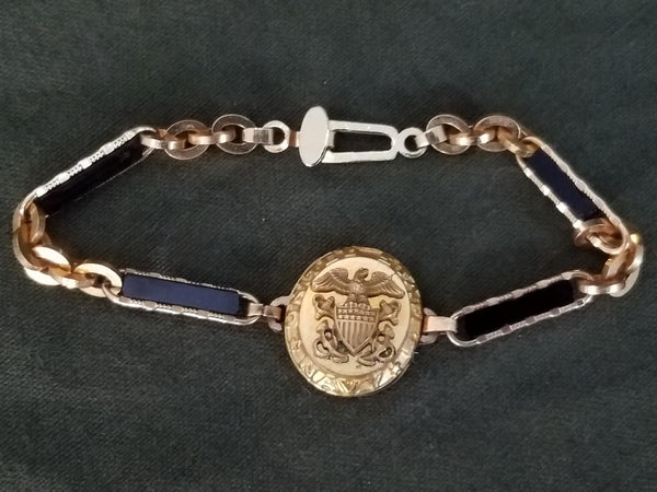 Matching US Navy Sweetheart Compact & Bracelet
