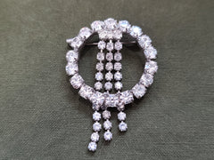 Rhinestone Circle Pin