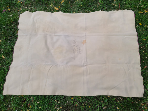 M.D. U.S. Army Wool Blanket 1944 Moth Holes & Stains