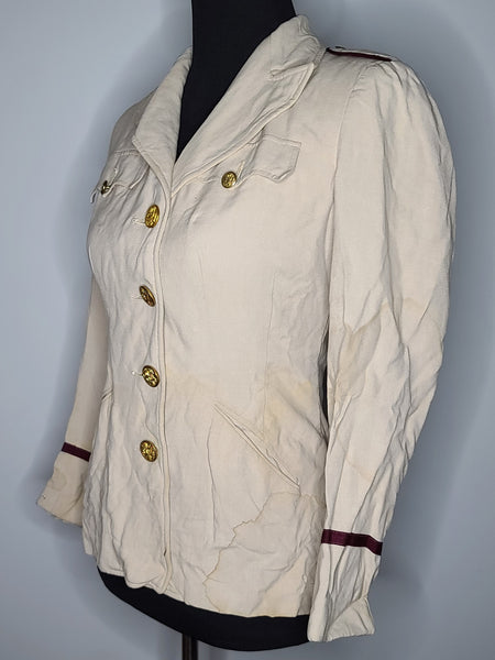 "ANC Army Nurse Beige Jacket (as-is) <br> (B-35.5"" W-29"")"