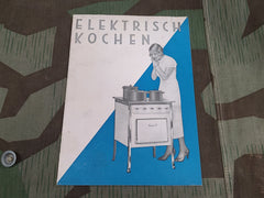 1935 Electric Cooking Booklet