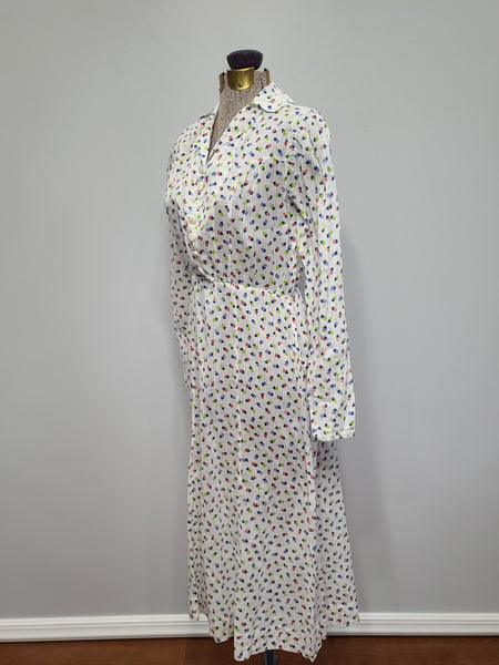 "See-Thru Long Sleeve Heart Print Dress <br> (B-37"" W-25"" H-37"")"
