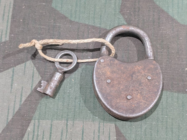 Rusty German Lock with 1 Key