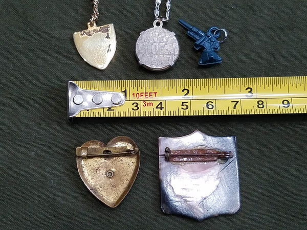 Lot of US Army Sweetheart Homefront Jewelry Pieces