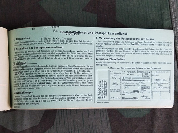 Bank Transfer Form Booklet 1943